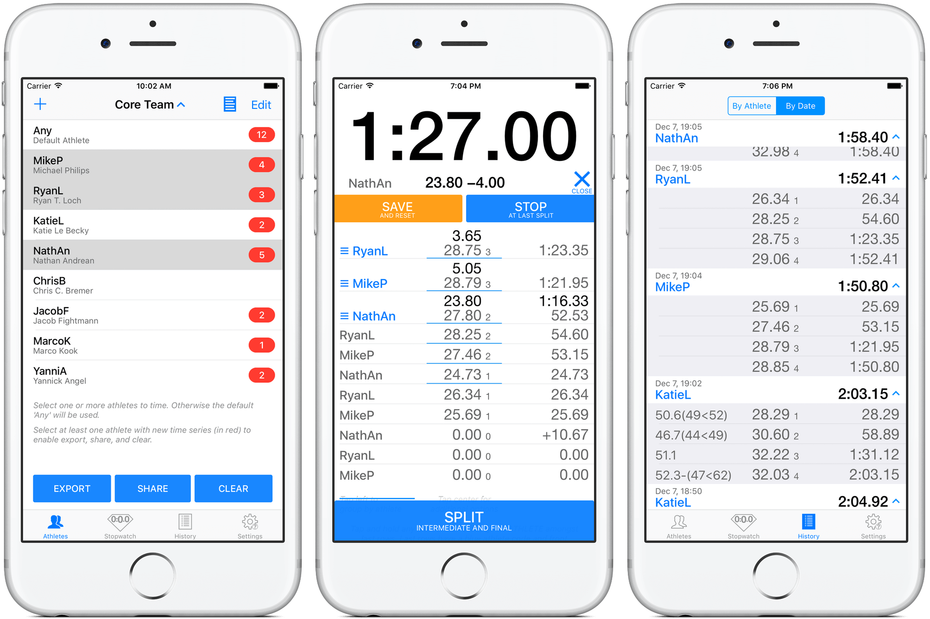 HEROTIME - Single-Button Multi Stopwatch  App  For Sports